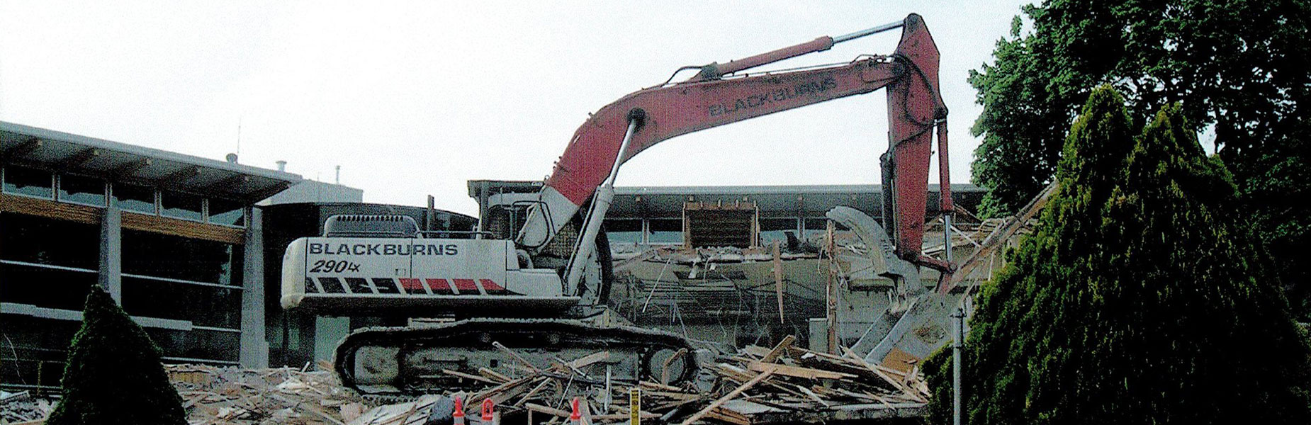 Blackburn Excavating Ltd offers high demolition services, as well as complementary surveying services through our sister company, Blackburn Surveying Ltd.